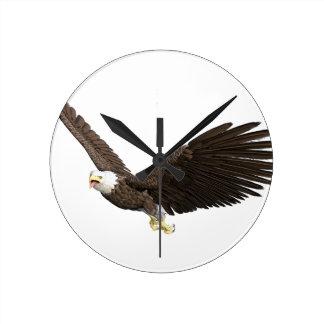 Soaring Bald Eagle Wall Clocks
