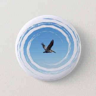 Soaring Brown Pelican 2 Inch Round Button