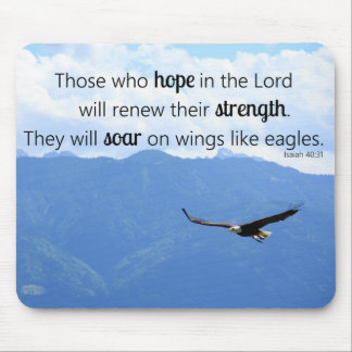 Soaring Eagle Christian Strength Isaiah 40:31 Mouse Pad