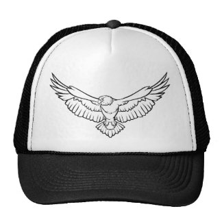 Soaring Eagle, flying - black and white Trucker Hat