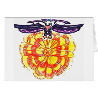 """Soaring Eagle over the Sun"" Greeting Card"