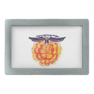 Soaring Eagle over the Sun Rectangular Belt Buckle