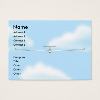 Soaring Gliding Sailplane Glider chubby Business Card