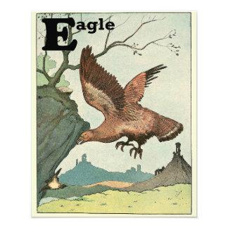 Soaring Golden Eagle Alphabet Art Photo