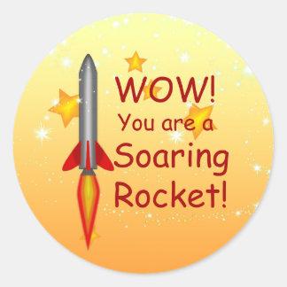 Soaring Rocket Teacher Grading Stickers