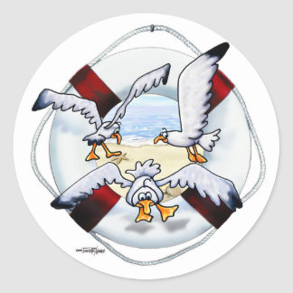Soaring Sea Gulls stickers