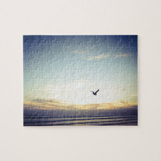 Soaring Seagull - Jigsaw Puzzle