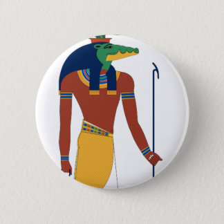 Sobek Crocodile  God 2 Inch Round Button