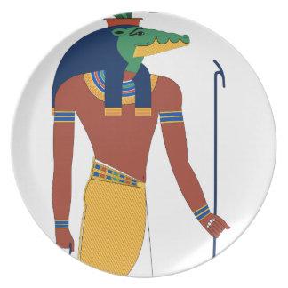 Sobek Crocodile  God Plate