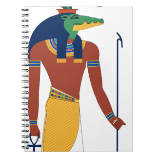 Sobek Crocodile  God Spiral Notebook
