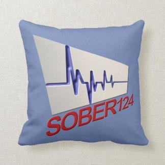 Sober124 Life Throw Pillow