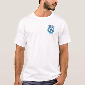 Sober124 logo with dangerous angler on the back T-Shirt