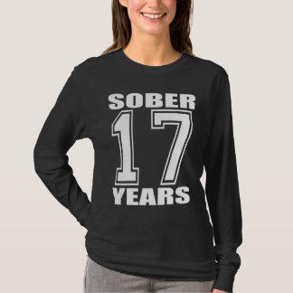 Sober 17 Years White on Dark T-Shirt