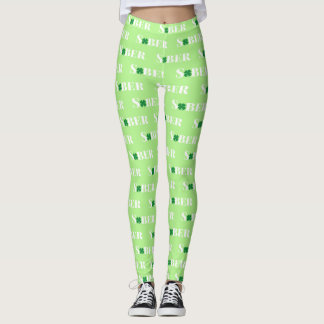 Sober Shamrock Leggings