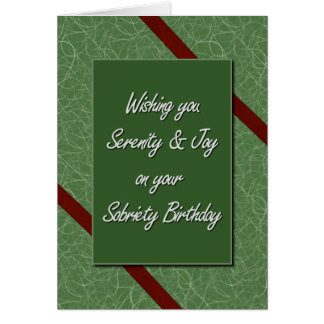 Sobriety Birthday Card