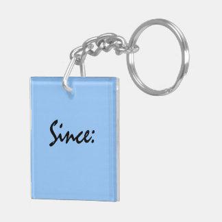 Sobriety Date Key Tag Keychain