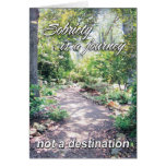 sobriety is a journey 11 greeting card