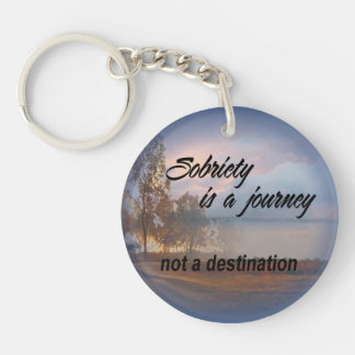 sobriety is a journey keychain 15c