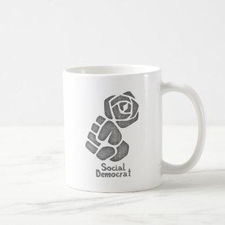 Soc Dem Rose Fist Coffee Mug