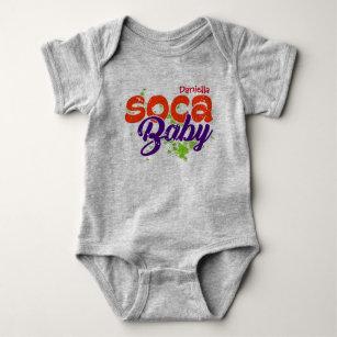 Soca Typography Baby Bodysuit