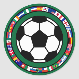 Soccer 2010 classic round sticker