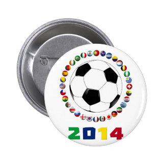 Soccer 2014  2530 2 inch round button