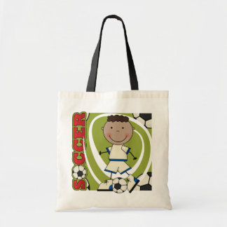 SOCCER - African American Boy TShirts and Gifts Tote Bag