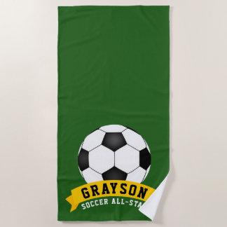 Soccer All-Star Beach Towel