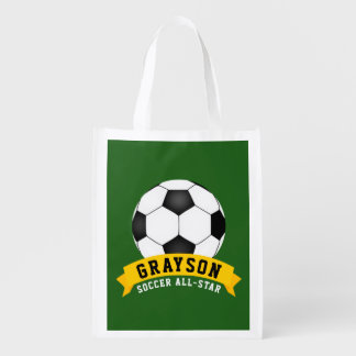 Soccer All-Star Reusable Grocery Bag