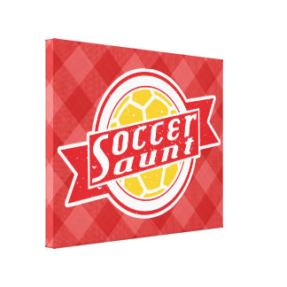 Soccer Aunt Box Canvas