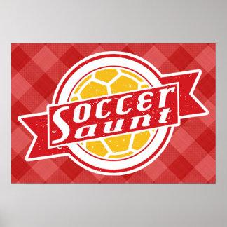 Soccer Aunt Poster Print