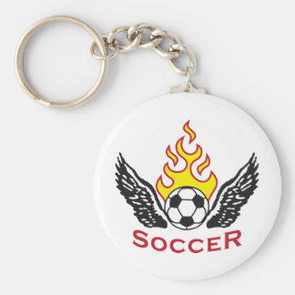 Soccer B 3c Porte-clé Rond