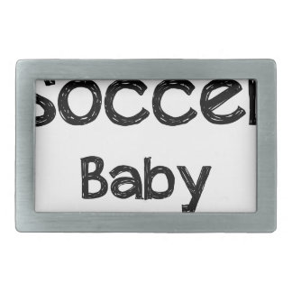 Soccer Baby Rectangular Belt Buckles