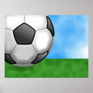 Soccer Background Poster