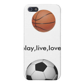 soccer-ball, 220px-Basketball, play,live,love iPhone 5 Cover