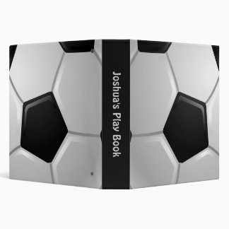 Soccer Ball 3 Ring Binder
