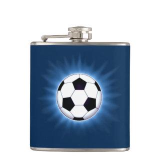 Soccer Ball 6 oz Vinyl Wrapped Flask