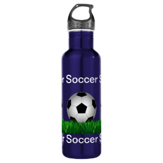 Soccer ball 710 ml water bottle