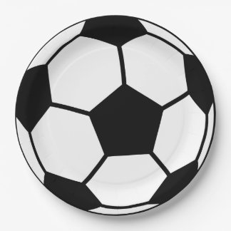Soccer Ball 9 Inch Paper Plate