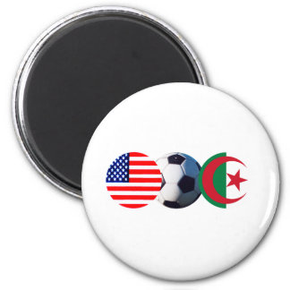 Soccer Ball Algeria & USA Flags The MUSEUM Zazzle Magnet