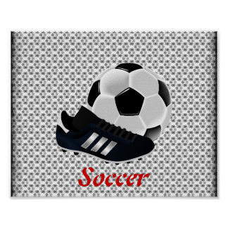 Soccer Ball and Cleat Poster
