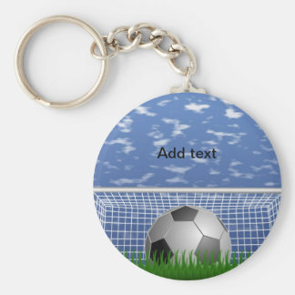 Soccer ball and net keychain template