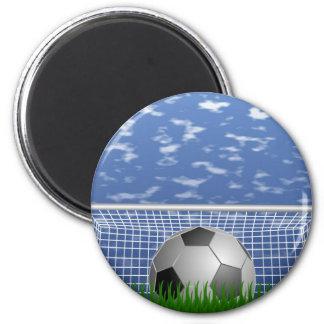 Soccer ball and net magnet