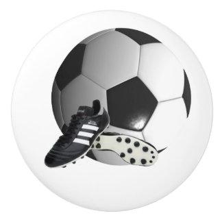 Soccer Ball And Shoes, Draw Knob. Ceramic Knob