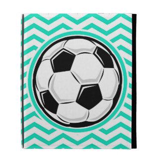 Soccer Ball Aqua Green Chevron iPad Folio Cover