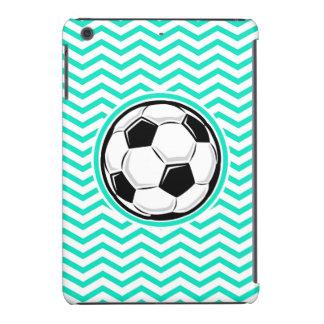 Soccer Ball Aqua Green Chevron iPad Mini Cases