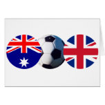 Soccer Ball Australia & UK Flag jGibney The MUSEUM