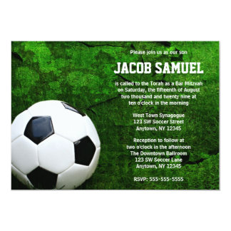 Soccer Ball Bar Mitzvah Card