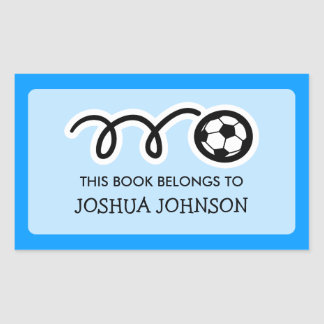 Soccer ball book label stickers | School supplies