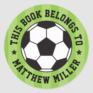 Soccer ball bookplate book label